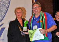 Award collected by Niels Els, President Sk�l International Garden Route, on behalf of the SAASA